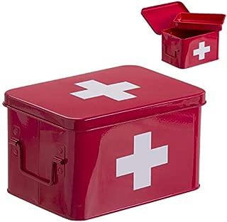 Home Gadgets Botiquin L Metal Rojo 33 cm