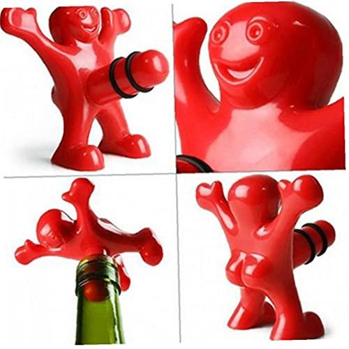 Froiny Abrelatas Corcho del Vino Hombre Rojo Estilo Bebida Tapón Tapón Abrir Utensilio Inicio