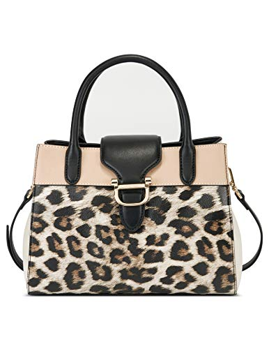 Nine West Damen Bedford Umhängetasche, Leopard, Medium