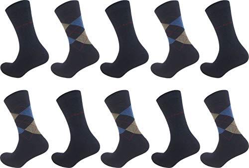 Pierre Cardin 10 Paar Herren Business-Socken, Anzug-Socken 75% Baumwolle Stark Reduziert (43-46, Jeans Melange)