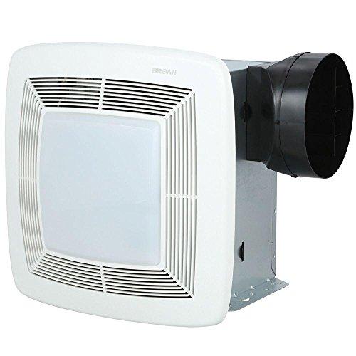 Broan Model QTXE080FLT 80 CFM 36 Watt Fluorescent Lighting Ultra Silent Bath Fan/Light