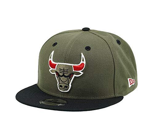 New Era Chicago Bulls Olive Black NBA Snapback Cap 9fifty 950 OSFA Exclusive Limited Edition