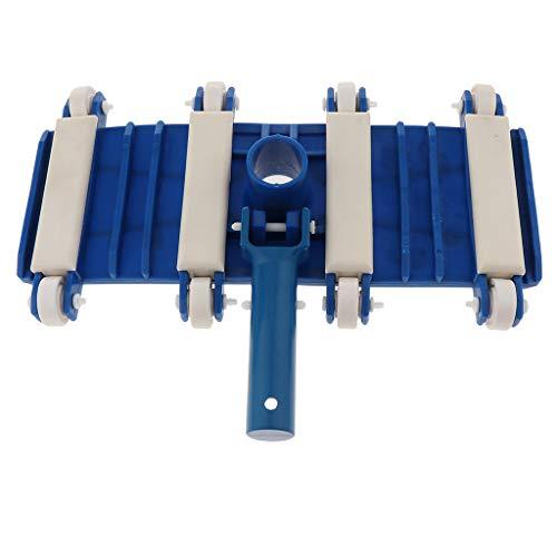 Fenteer Tête de Balai Flexible avec Clip pour Fixation Fourniture de Nettoyer Feuilles Débris de Piscine, Connecteur Inclus