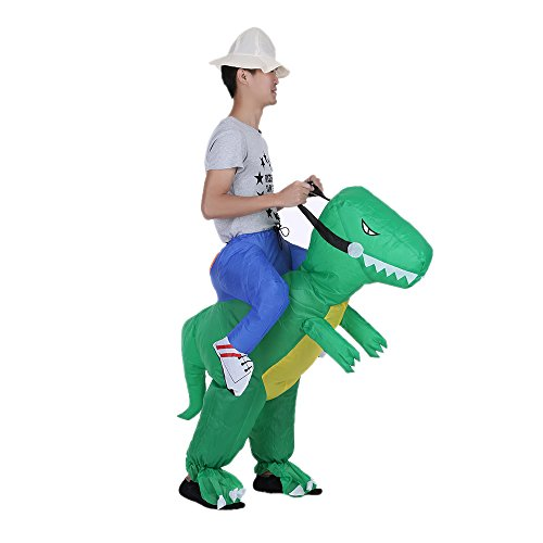 Anself Aufblasbares Kostüm Carry-me Huckepack Dinosaurier Cosplay für Fasching Erwachsene/Kinder Optional