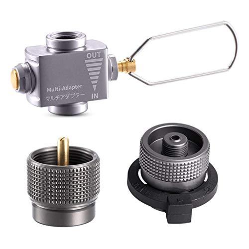 Gasadapter für Campingofen Zylindergastank Brenner Herd Stecker Gasherd Adapter Umrichter Zubehör Einfache Lagerung XIUYU (Color : Set 1)
