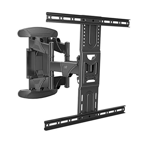 SHIJINHAO TV Wall Bracket For 40-65 Inch LED LCD Flat & Curved Screen, Swivel Tilt TV Wall Mount Full Motion, Heavy Duty Strong Solid 6 Arm Structure Up To 50KG, Max VESA 400x400mm