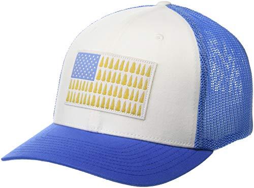 Columbia Unisex-Adult Standard Mesh Tree Flag Ball Cap, White, Small/Medium