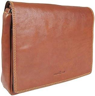 7f8811da0 *SALE* Gianni Conti Italian Fine Leather Medium Tan Flap Shoulder Handbag  Bag - 914367