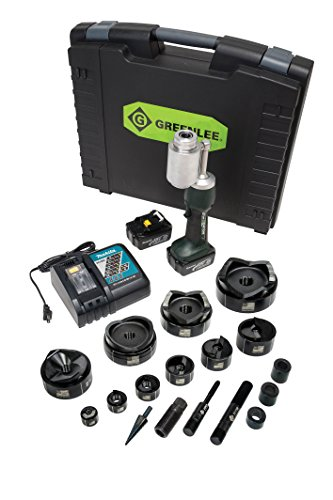 Greenlee LS100L11SB4 Battery Powered Punch Driver Kit with 1/2 to 4-Inch Mild Steel Conduit Punch Set