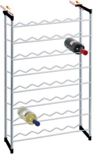 17.20.48 Silver Cantinetta portabottiglie Parigi 48 - Misure Cm 58x24x93h - Dotato di 2 tasselli per Fissaggio a Muro