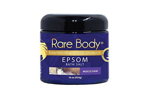 Rare Body Muscle Ease Bath Salt – Muscle Soothing Bath Soak with a Blend of Celtic Sea Salt, Epsom and Essential Oils, All Natural, Vegan and Gluten Free – 16 Ounces