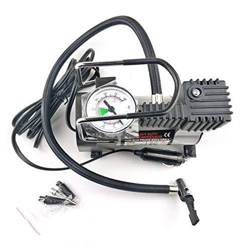 12V elektrische bandenpomp Pomp enkele cilinder luchtcompressor voor autotrucks zilver en zwart