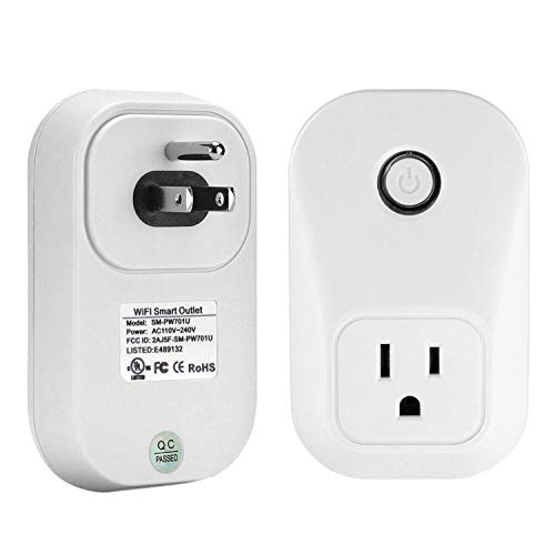 Jinvoo Smart Plug, Smart Home-WiFi Plug Compatible with Alexa, Echo, Google Home, No Hub Required, Remote Control, CETL Certified, 2-Pack