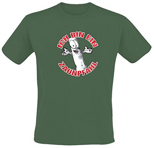 Zaunpfahl – Ich Bin EIN Zaunpfahl T-Shirt (XL, grün)