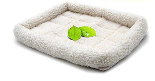YOIL Schönes Bett für Haustiere Pet Premium Synthetik-Schaffell-Pflegebett (mittel, weiß)