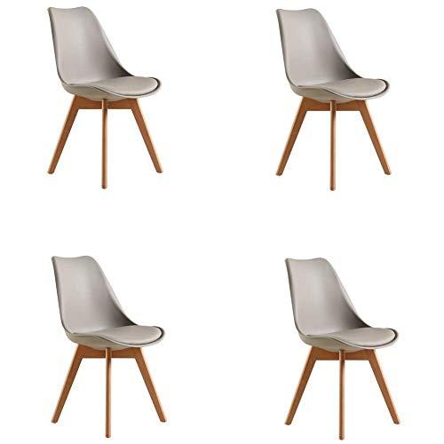 QQXX plastic eettafel en stoelen Plastic4ps, creatieve kruk met spons, Tulip FashionNordic ChairHome Furniture (kleur: blauw, maat: 43x48x84cm) 6 6