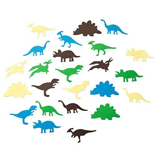 Oblique Unique® Dino Konfetti 24 STK. bunt für Kinder Geburtstag Dinosaurier als Tisch Deko Streudeko zum Basteln