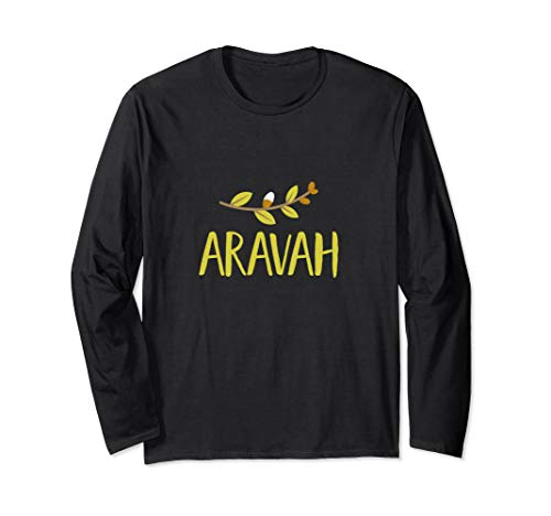 Arava 4 Arten Weidenbaum Blätter Sukkot Jüdischer Feiertag Langarmshirt