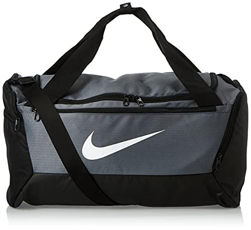Nike Unisex's Brasilia - 9.0 Duffel Bag (Small), Flint Grey/Black/White, One size