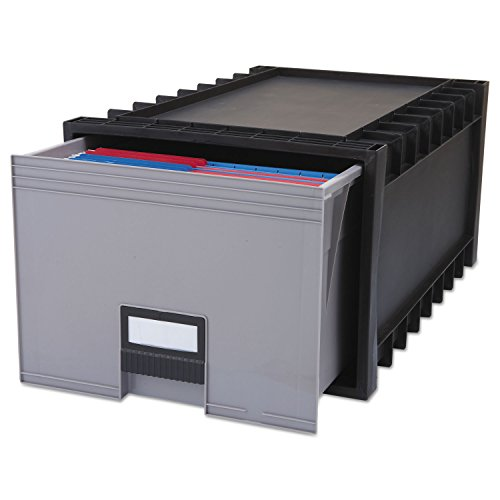 Storex – Boîte de rangement pour archives Format lettre dossiers suspendus, 61 cm Profondeur, gris – Vendu comme 1 Chaque – Très résistant Archive tiroir de rangement pour plus de fichier.