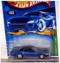 Hot Wheels 2002 Treasure Hunt 1:64 Scale Blue 1971 Plymouth GTX Cuda 2/12 Die Cast Car #002