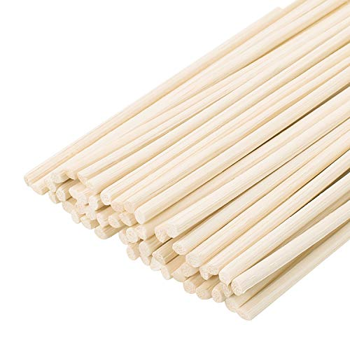 DYWISHKEY Wood Rattan Reed Sticks, Reed Diffuser Sticks, Essential Oil Aroma Diffuser Sticks (50 Pcs)