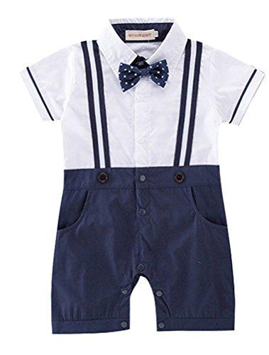 Odziezet Été à Manches Courtes Enfants Gentleman Strap Jumper Petite Gentleman Jumpsuit 3-18 Mois