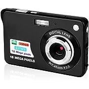 Digitalkamera, CamKing 2,7-Zoll-Digitalkamera, 1080p HD 18MP Kamera für Rucksacktouren, Mini Digitalkamera Taschenkameras Digital mit Zoom, Kompaktkameras für Fotografie (Schwarz)
