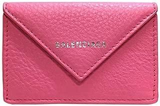 [バレンシアガ] BALENCIAGA レディース 三つ折財布 ペーパー ミニ ウォレット 391446 DLQ0N 5503 レザー ピンク [並行輸入品]