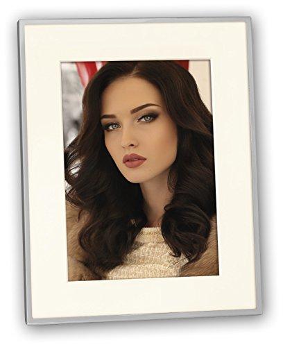 Zep 79L81 Giava fotolijst, metaal, 20 x 25 cm, zilverkleurig, wit, 30 x 24 x 1,5 cm