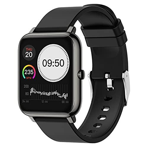 DKM Reloj Inteligente para Hombres Y Mujeres con Ritmo Cardíaco Monitoreo De Presión Arterial Llamada Mensaje Mensaje Rastreador De Fitness para Android iOS,D