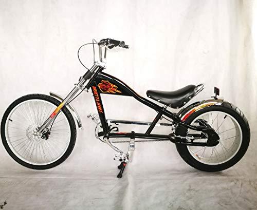 Rosetta Bicicletta sportiva lowrider in stile chopper Harley, Nero , 20