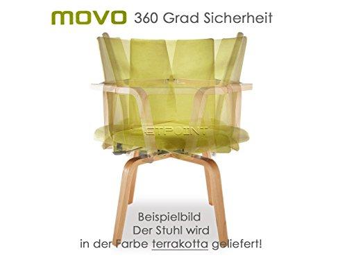 MAUSER SITZKULTUR Funktionsstuhl /Seniorenstuhl / Rotationsstuhl MOVO terracotta 360 Grad drehbar für eigenständige Mobilität von Pflegebedürftigen, M505 terra