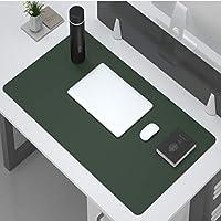 多機能 オフィス デスクマット プロテクター,防水 デュアルサイド 持っている 革 コンピューター デスクパッド 滑り止め 拡張 マウスパッド For ホーム ゲーム-緑. 60x30cm(24x12inch)