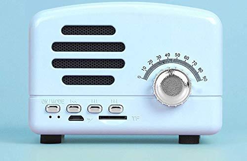 Asncnxdore. Bluetooth Lautsprecher Neue Smart-Lautsprecher for Wireless-Karte Subwoofer-Minicomputer-Radio (Color : Blue)