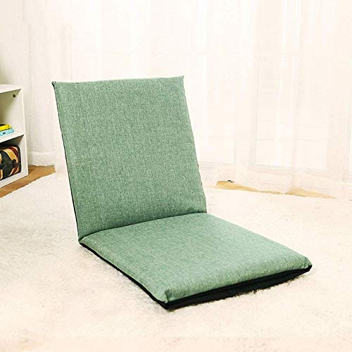 DIAOD Floor Chair Memory Foam Adjustable Gaming Chair Folding Lazy Sofa for Home Office (Color : Green)