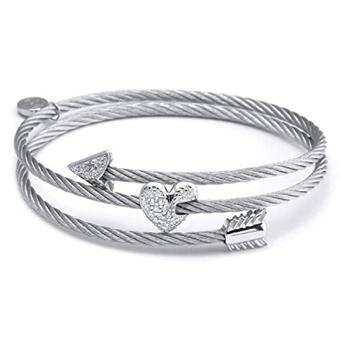 CHARRIOL Charriolm Bangle Crazy in Love Again. Size; Midium- 04-121-1241-2