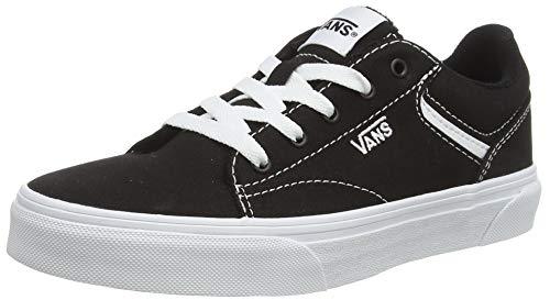 Vans Seldan, Sneaker Mixte, Noir ((Canvas) black/white), 39 EU