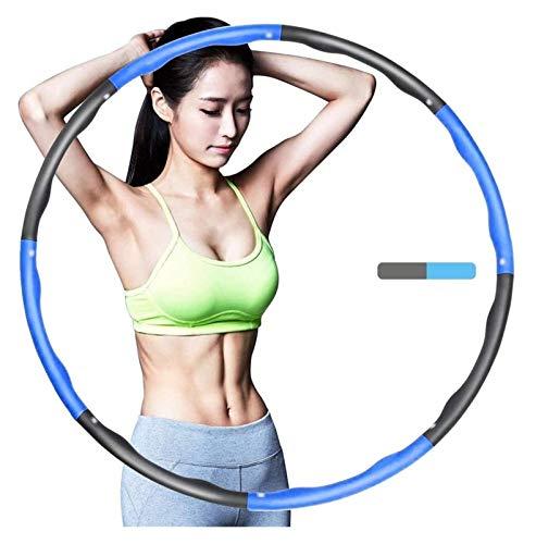 Hula-Hoop Hula-Hoop-Fitness, faltende Fitness Hula-Reifengewicht, 8 abnehmbare Schaumstoff-gefüllte Sport-Hula-Reifenbreite einstellbar, geeignet for Erwachsene und Kinder geeignet Gewichteter Fitness