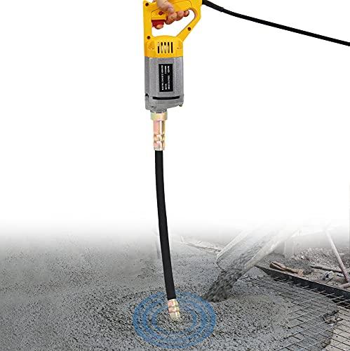 YJINGRUI Concrete Vibrator 4200 VPM 110V 950W Hand Held Electric Concrete Vibrating with Shaft Rod (2m/6.6 ft)