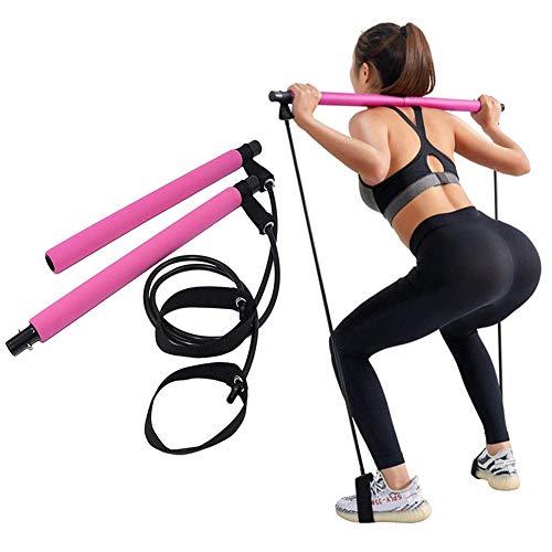 PLUS PO Cintas Elasticas Musculacion Bandas De Resistencia Bandas elásticas de Resistencia, Las Mujeres Pilates, Bandas de Resistencia Ejercicio Bandas Pink,One Size