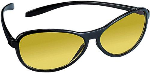 PEARL Kontrastbrille: Kontrastverstärkende Nachtsichtbrille, UV 400 (Gelbe Brille)