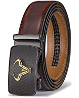 Men's Belt,Bulliant Branded Ratchet Belt Of Genuine Leather For Men Dress,Size Customized