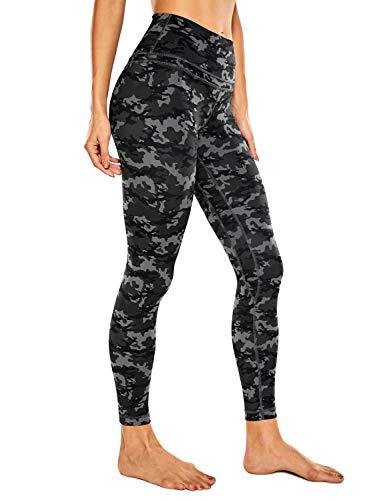 CRZ YOGA Donna Vita Alta Yoga Fitness Spandex Palestra Pantaloni Sportivi 7/8 Leggins con Tasche-63cm Camo Multi 1-R009 38