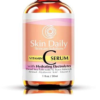 Antioxidant Vitamin C Serum for Face- Infused with Electrolytes Hyaluronic Acid Retinol - 1 oz