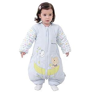 Kylewo Saco de Dormir de Invierno para bebé 3.5 TOG Saco de Dormir de Invierno de Manga Larga con Forro cálido de…