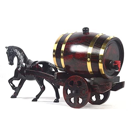 DXMRWJ Creativity Whisky Barrel 3L / 5L Dispensador de barriles de envejecimiento de Madera Cubo de Vino sin Fugas para Almacenamiento de vinos y Bebidas espirituosas Whisky (tamaño: 3L)