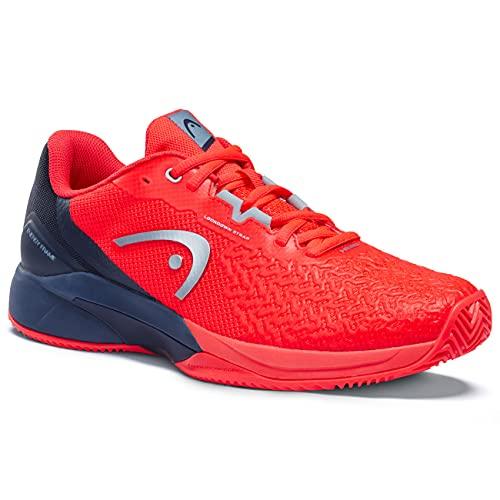 HEAD Revolt Pro 3.5 Clay Men, Tennis Shoe Hombre, Rojo Neón Azul Oscuro, 43 EU