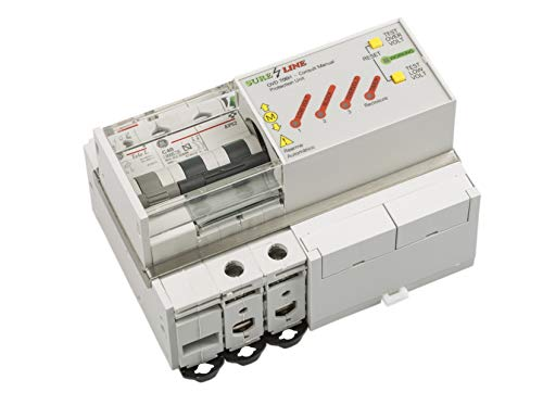 Disyuntor Magnetotérmico Monofásico con protección por sobreintensidad, baja tensión y sobretensión, con Rearme Automático LED706 (25A, 2 milisegundos)