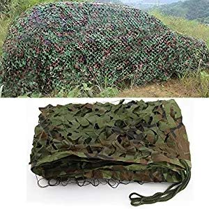 bluecookies Military Camo Netting Army Woodland Camouflage Netting Oxford Fabric Hunting Camping Net (1.5 x 10M)